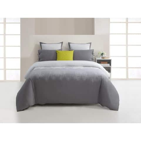 Kensie Ingrid 300 Thread Count Comforter Set - Warm Grey