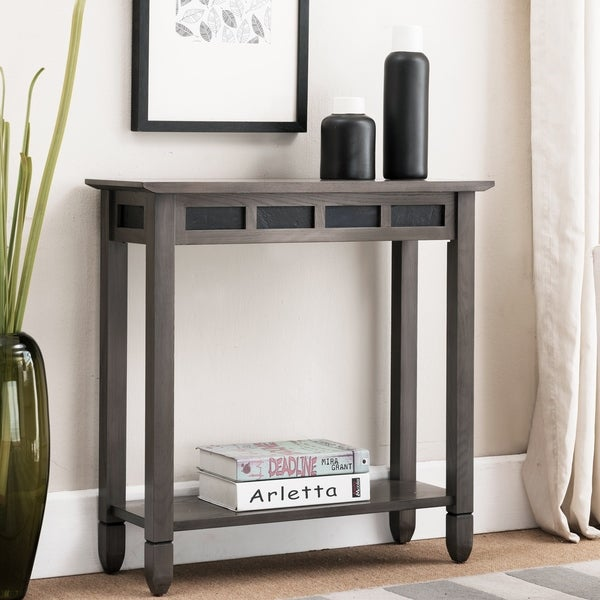 Grey Wood Hall Console Table
