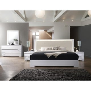 Best Master Furniture Athens White 5 Pieces Bedroom Set