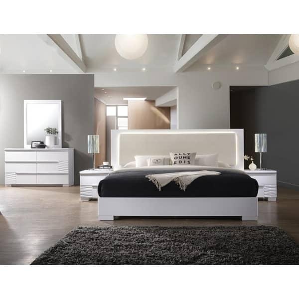 Shop Best Master Furniture Athens White 5 Pieces Bedroom Set ...