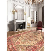 eCarpetGallery Homage Red/Yellow Machine-woven Oriental Area Rug - 8' x 10'