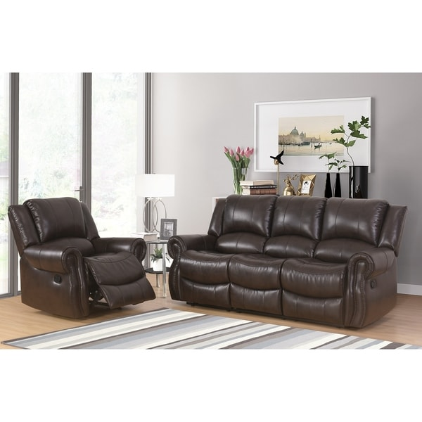 Shop abbyson bradford brown 2 piece faux leather living room set on sale free shipping today 2 piece leather living room set