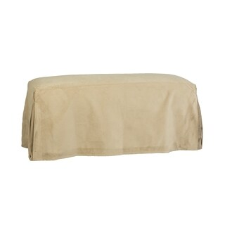 Leffler Home Long Pleated Bench Slipcover