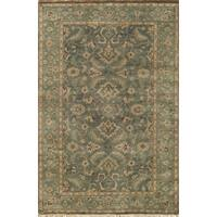 "Momeni Shalimar Naples Blue Wool Hand-Knotted Area Rug (3'9 x 5'9) - 3'9"" x 5'9"""