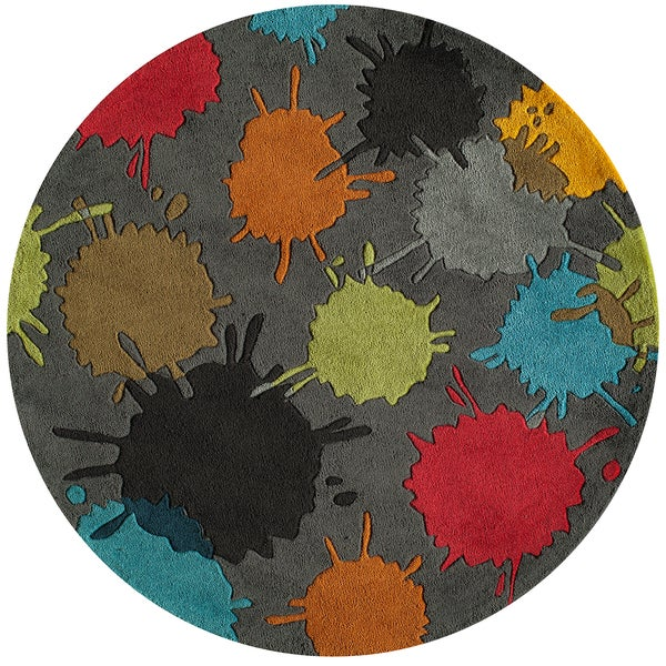 Momeni Lil Mo Hipster Grey/Multicolor Upland Area Rug - 5' x 5'