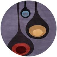 "Momeni New Wave La Mirada Steel/Multicolor Wool Area Rug - 5'9"" x 5'9"""