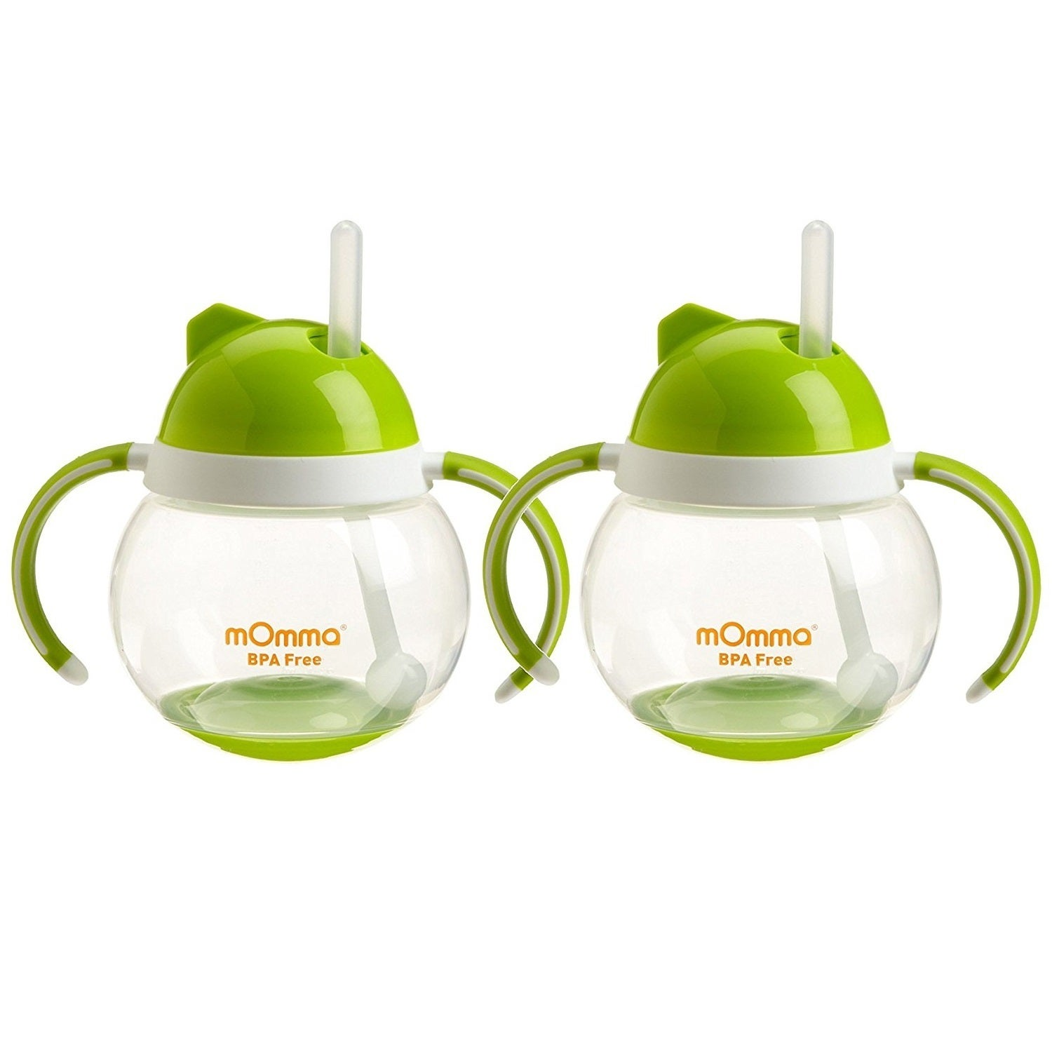 Lansinoh mOmma Straw Cup with Dual Handles - Green - 2 Co...