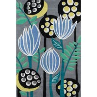Momeni Bliss Polyester Hand Tufted Floral Area Rug - 8' x 10'