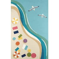 Momeni Veranda Ischia Blue/Multicolor Indoor/Outdoor Coastal Area Rug - 8' x 10'