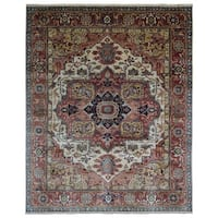 FineRugCollection Red/Multicolor Wool Handmade Serapi Oriental Area Rug (8' x 10')