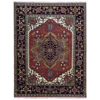 FineRugCollection Fine Serapi Oriental Black/Red Wool Handmade Rug (8' x 10'3)