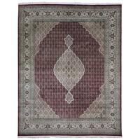 FineRugCollection Hand Made Fine Mahi Tabriz With Silk Flowers Oriental Rug - 10' x 13'7