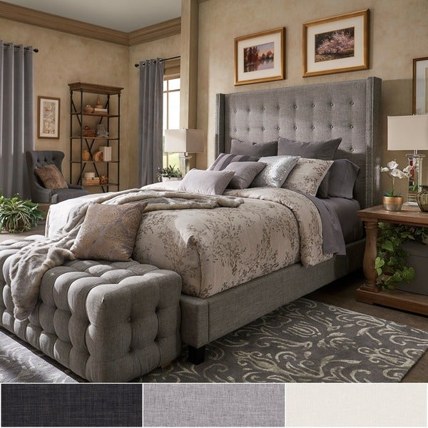 Superieur Marion Nailhead Wingback Tufted Tall Headboard Platform Bed By INSPIRE Q  Bold