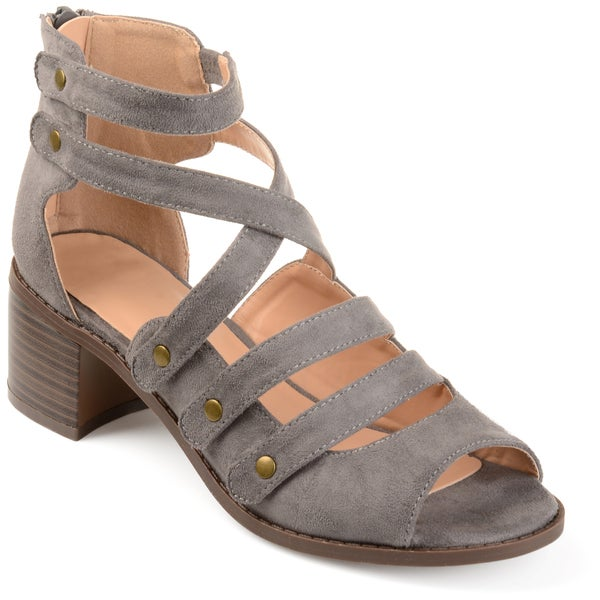 d28990b219f Shop Journee Collection Women s  Arbor  Multi-strap Open-toe Heeled ...