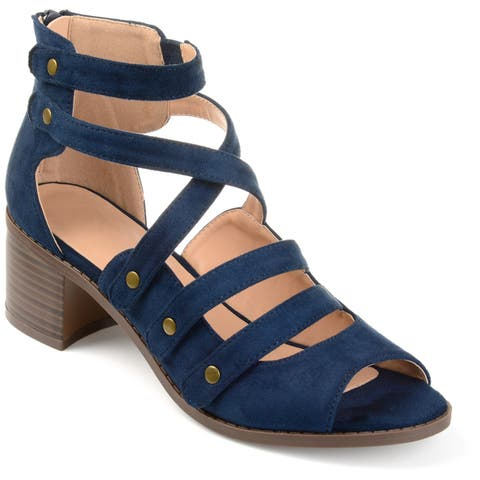 27f1b51eea41 Journee Collection Women s  Arbor  Multi-strap Open-toe Heeled Sandals