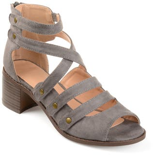 Journee Collection Women's 'Arbor' Multi-strap Open-toe Heeled Sandals