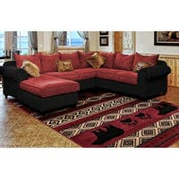 Westfield Home Hollyhock Bear Stamp Red Area Rug - 5'3 x 7'2