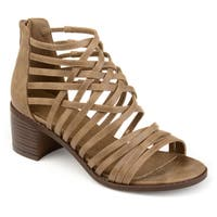 Journee Collection Women's 'Diya' Criss-cross Caged Heeled Sandals