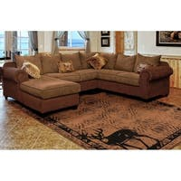 Westfield Home Hollyhock Dear Trail Brown Area Rug - 5'3 x 7'2