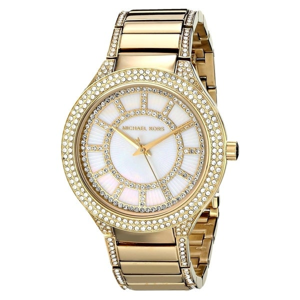 Michael Kors Women's MK3312 Kerry Yellow Goldtone Crystal Watch