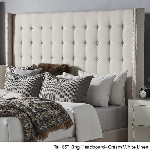 Marion Nailhead Wingback Tufted Tall Headboards by iNSPIRE Q Bold