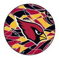"""NFL - Arizona Cardinals Roundel Mat 27"""" diameter"""