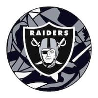 "NFL - Oakland Raiders Roundel Mat 27"" diameter"