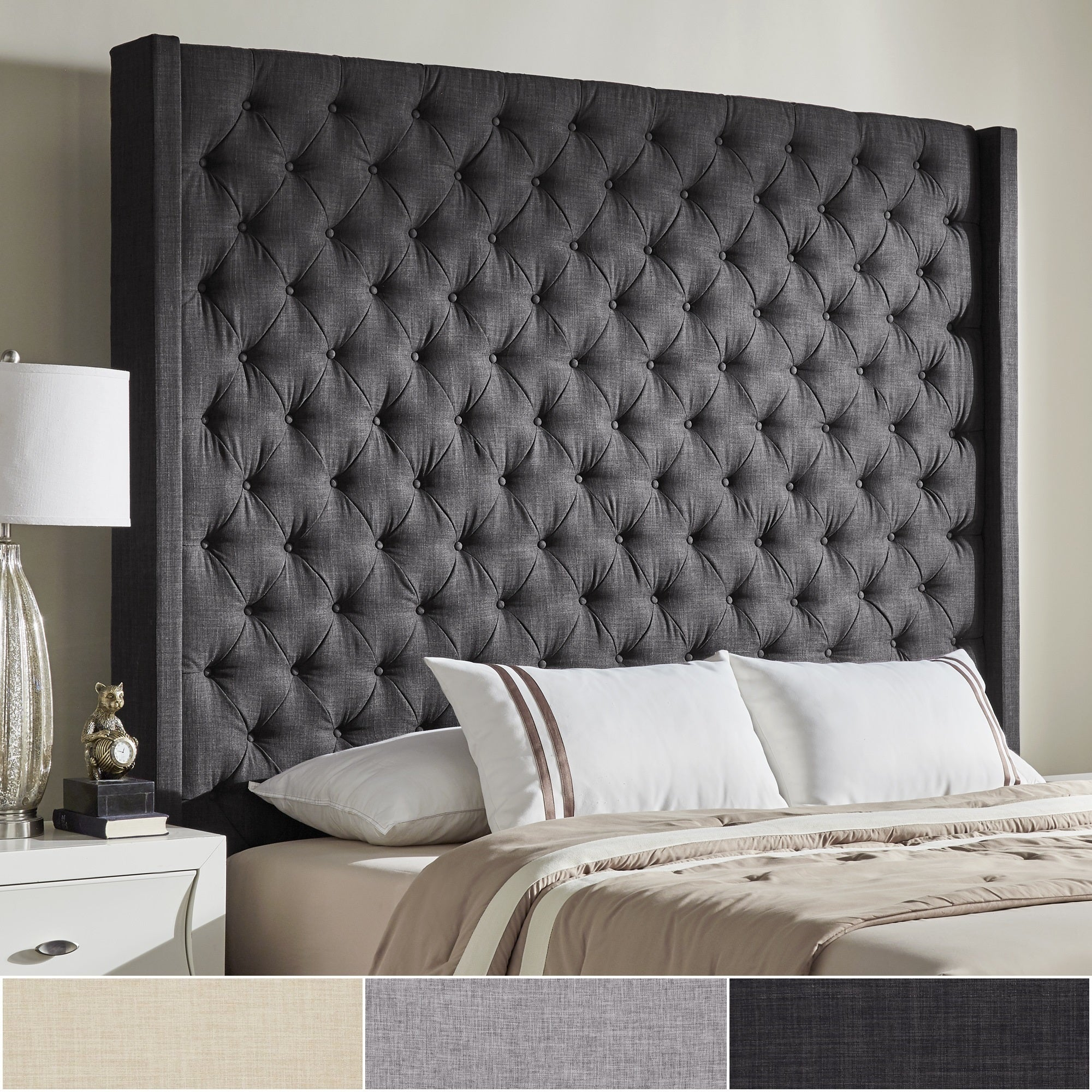 Naples Wingback Button Tufted Tall Headboards By Inspire Q Artisan On Sale Overstock 19511535