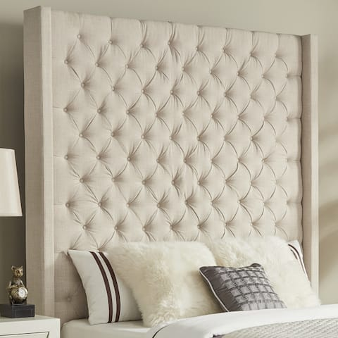 Naples Wingback Button Tufted Tall Headboard by iNSPIRE Q Artisan