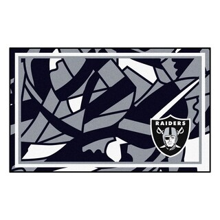 NFL - Oakland Raiders 4'x6' Rug