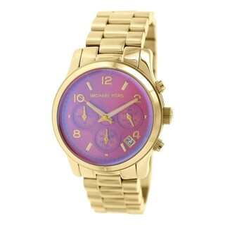 Michael Kors Women's Runway Goldtone Stainless Steel Quartz Watch