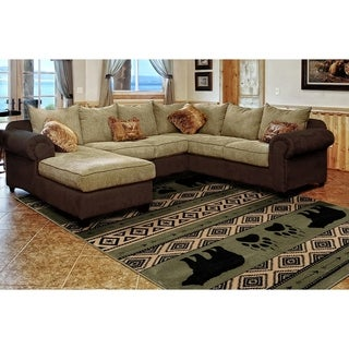 Westfield Home Hollyhock Bear Stamp Green Accent Rug - 1'10 x 3'