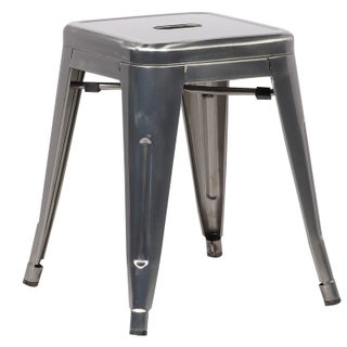 Poly and Bark Trattoria 18-inch Stool (Set of 2) (Option: Polished - Silver)
