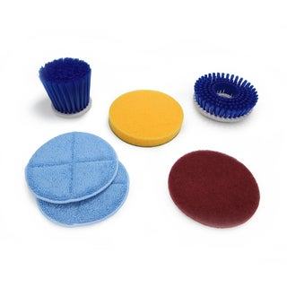 6 Cleaning Attachments for the Prolux Proshine Scrubber Buffer Mop - Blue