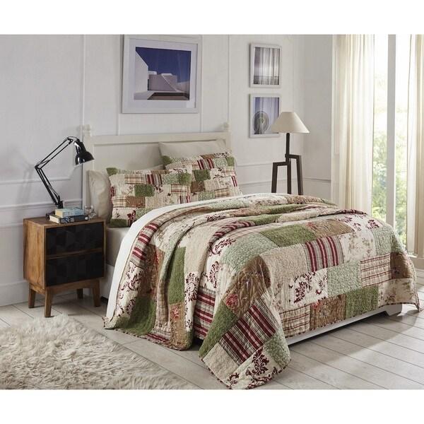 Erica Cotton 3-piece Cotton Patchwork Quilt Set - Multi