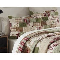 Erica Cotton 3-piece Cotton Patchwork Quilt Set