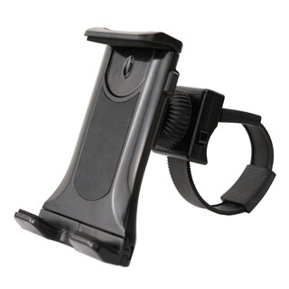 Sunny Health & Fitness Universal Mobile Phone and Tablet Clamp Mount Holder for Bikes - Black