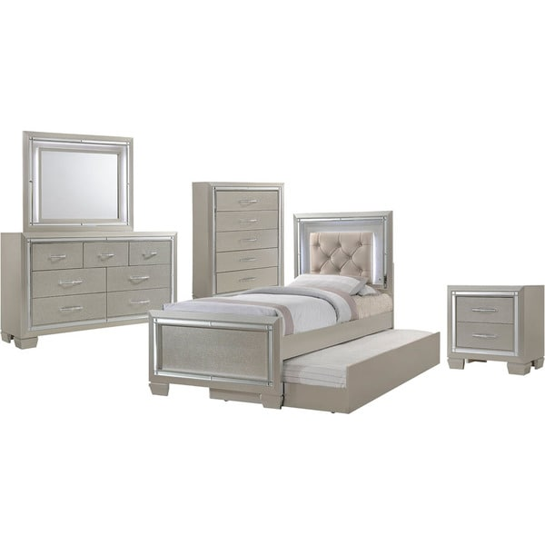 Shop Cambridge Elegance 5 Piece Twin Size Bedroom Suite