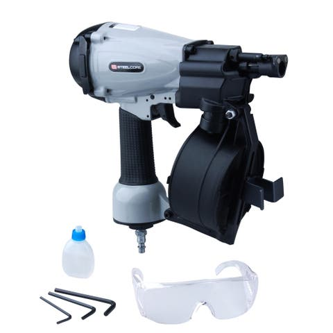 """Steel Core 7/8"""" to 1- 3/4"""" 11 Gauge Coil Roofing Air Nailer"""
