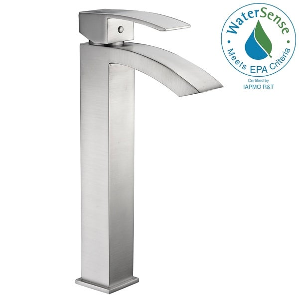 ANZZI Tutti Single Hole Single-Handle Bathroom Faucet in Brushed Nickel. Opens flyout.