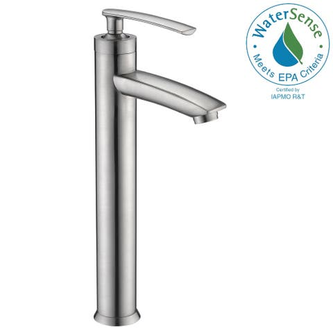ANZZI Fifth Single Hole Single-Handle Bathroom Faucet in Brushed Nickel - Silver