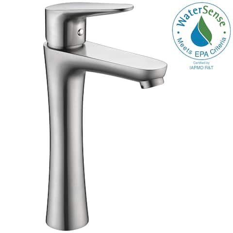 ANZZI Vivace Single Hole Single-Handle Bathroom Faucet in Brushed Nickel - Silver