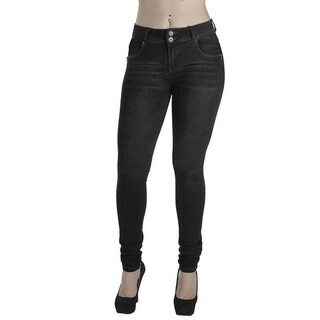 Women's Enhanced Butt Lifting Skinny Jeans Black