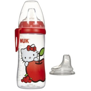 NUK Hello Kitty Silicone Spout Active Cup - 10 Ounce with NUK Replacement Silicone Spout - Clear