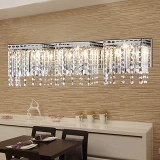 Fatima 3-light Chrome 26-inch Crystal Wall Lamp