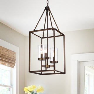 Jerling 3-Light Antique Bronze Candle Style Cage Pendant