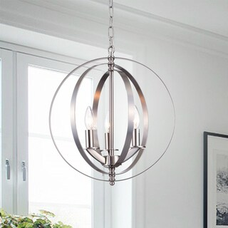 Setsus Chrome 3-Light Chandelier Globe - Silver