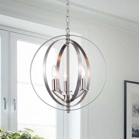 Setsus Nickel 3-Light Chandelier Globe
