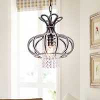 Nangel 1-Light Chandelier Antique Bronze Crystal