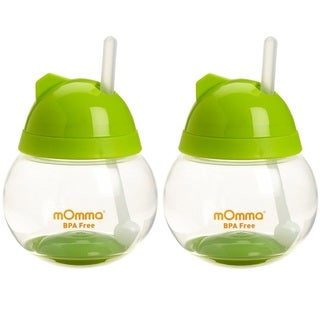 Lansinoh mOmma Straw Cup - Green - 2 Count
